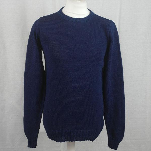 1Z Hand Framed Crew Neck Sweater 479a Dark Denim