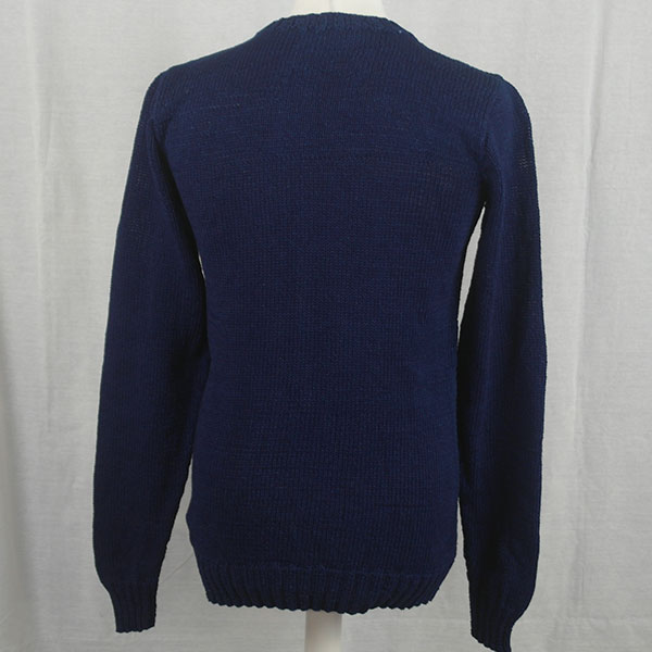 1Z Hand Framed Crew Neck Sweater 479b Dark Denim