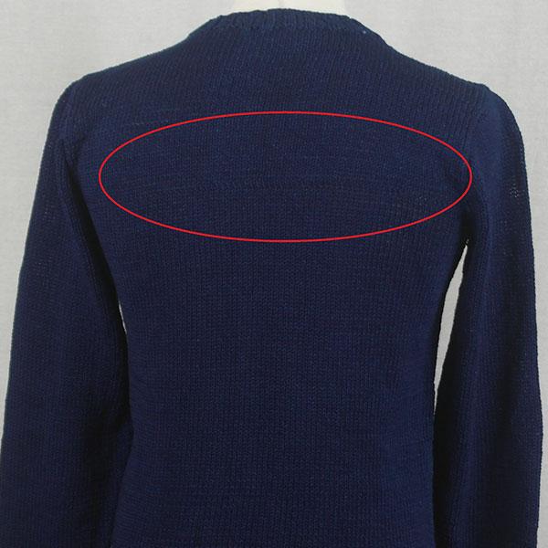 1Z Hand Framed Crew Neck Sweater 479d Dark Denim