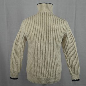 3C Cabled Contrast Full Zip Cardigan 477a Natural-Navy