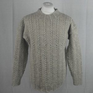 42E Cable Crew Sweater 481a Swift