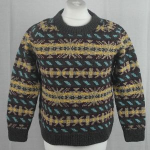 45D Allover Fairisle Crew 482a T