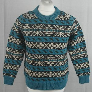 45D Allover Fairisle Crew 484a V