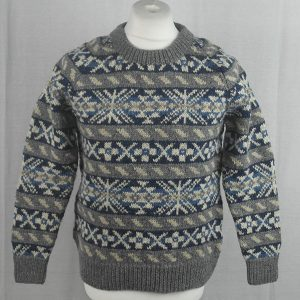 45D Allover Fairisle Crew 485a W