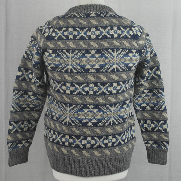 45D Allover Fairisle Crew 485b W