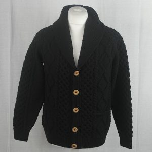 6A Shawl Collar Cardigan 489a Black