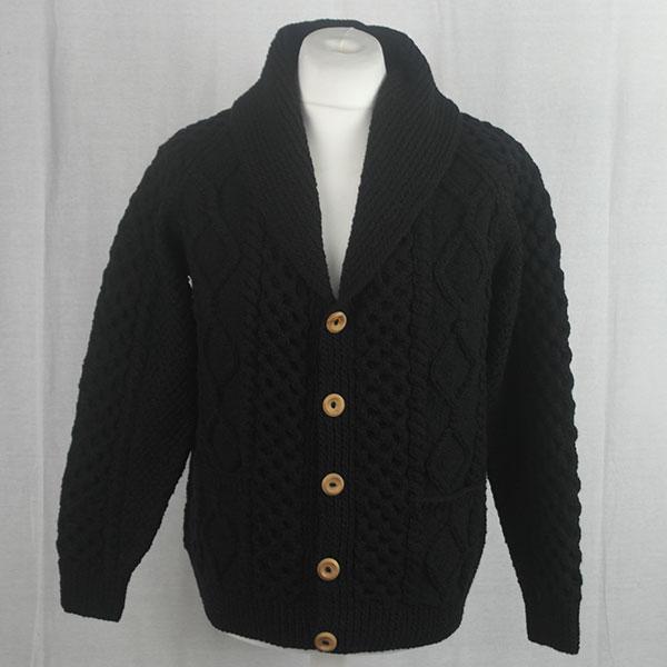 6A Shawl Collar Cardigan 489a Black