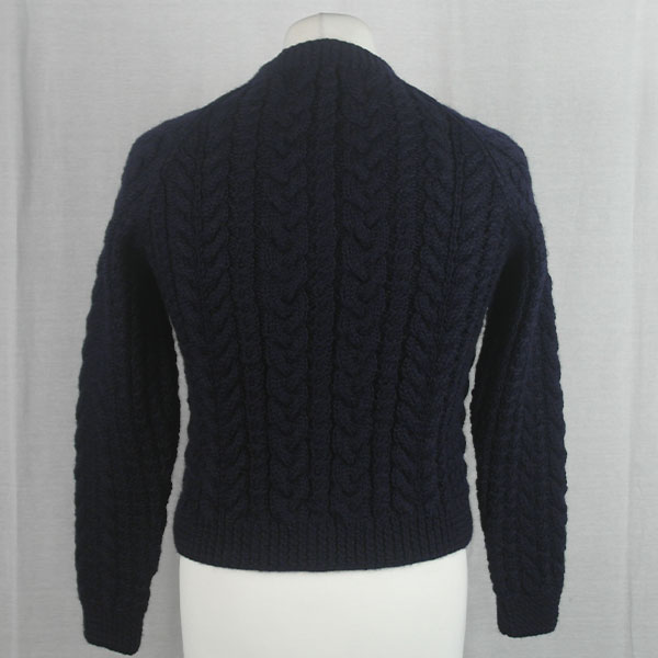 Buttoned Cable Cardigan 491b Navy