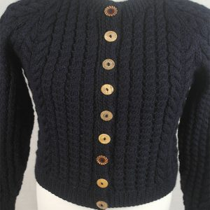 Buttoned Cable Cardigan 491d Navy