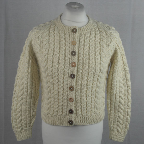 Buttoned Cable Cardigan 494a Natural