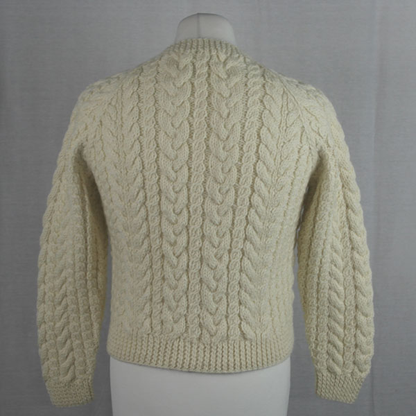 Buttoned Cable Cardigan 494b Natural
