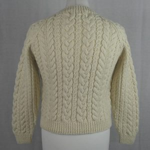 Buttoned Cable Cardigan 495b Natural