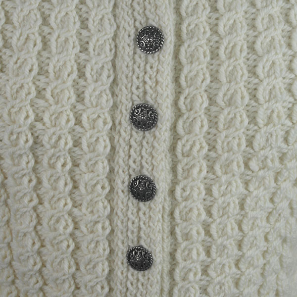 Buttoned Cable Cardigan 495d Natural