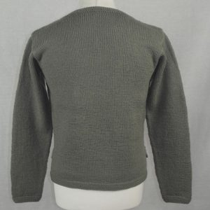 10M Shirt Tail Henley Sweater 500b Olive - Back