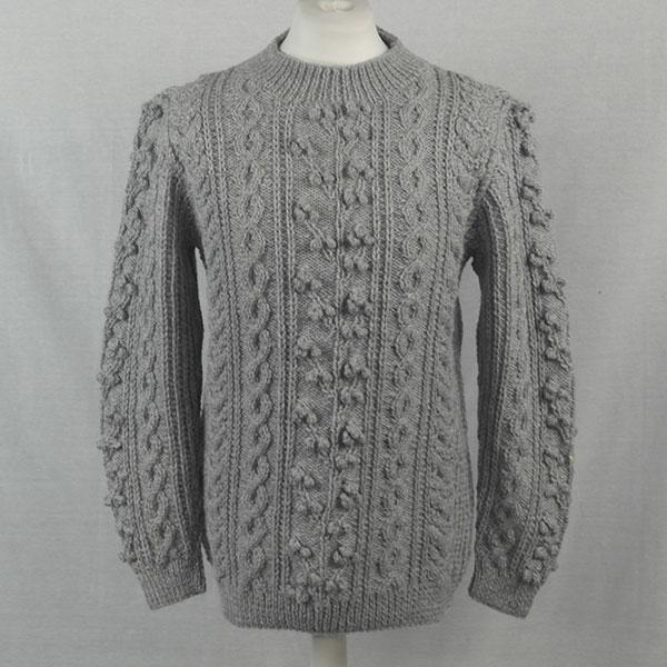 1D Bobble & Cable Sweater 502a Cloud- Front