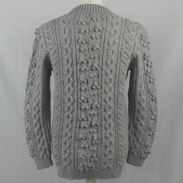 1D Bobble & Cable Sweater 502b Cloud - Back