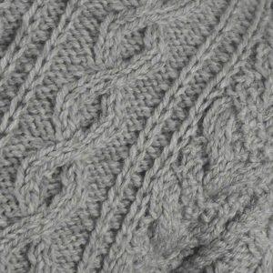 1D Bobble & Cable Sweater 502c Cloud - Close Up