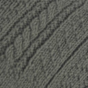 2F Gansey with Cabled Sleeve Sweater 501c Olive - Close Up