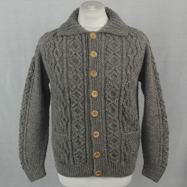 3A Lumber Cardigan 513a Grey 8087 - Front
