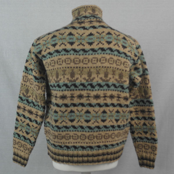 53G Henley Fairisle Sweater 499b Assorted - Back