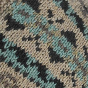 53G Henley Fairisle Sweater 499c Assorted - Close Up