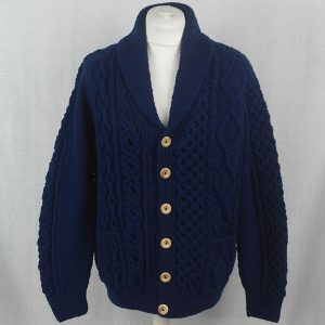 5P Shawl Collar Cardigan 517a Navy 22 - Front