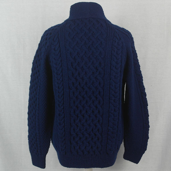 5P Shawl Collar Cardigan 517b Navy 22 - Back
