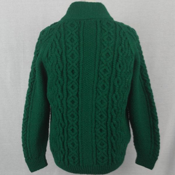 6A Shawl Collar Cardigan 508b Green 10 - Back