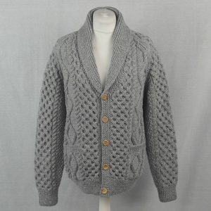 6A Shawl Collar Cardigan 514a Cloud - Front