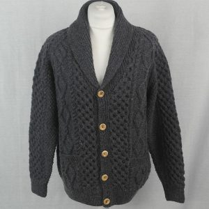 6A Shawl Collar Cardigan 515a Blueish 8096 - Front