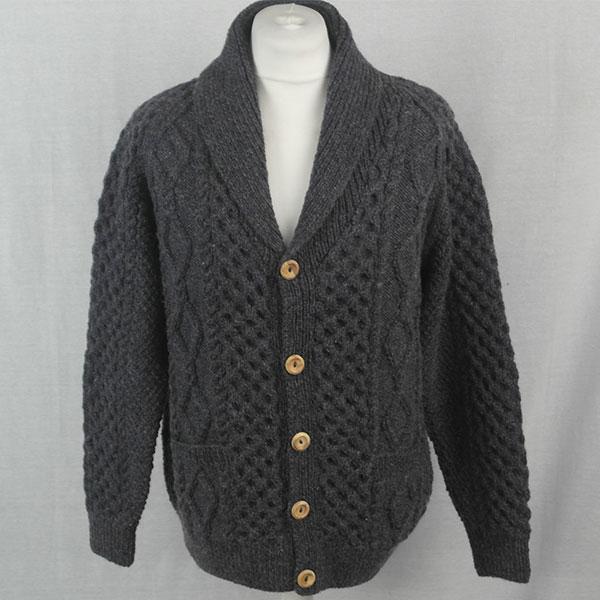 6A Shawl Collar Cardigan 515a Blueish 8096 - Front