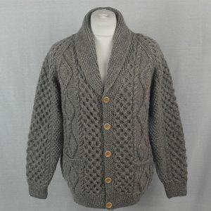 6A Shawl Collar Cardigan 516a Grey 8087 - Front