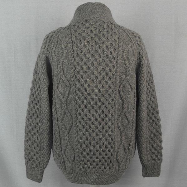 6A Shawl Collar Cardigan 516b Grey 8087 - Back