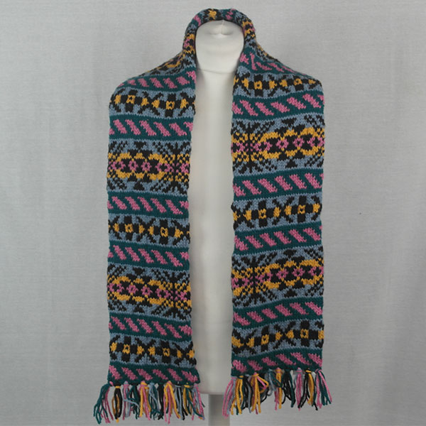 11K Fairisle Scarf 523a Assorted