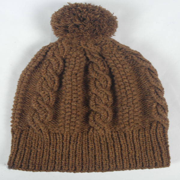 21I Cable Rope Hat 536a Pecan 0731