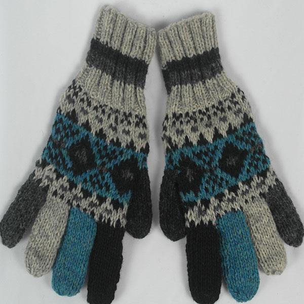 25A Fairisle Gloves Patt A 532a Assorted