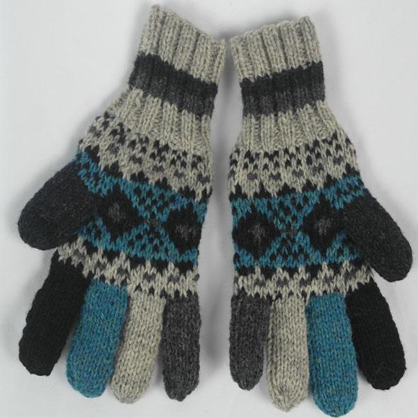 25A Fairisle Gloves Patt A 532b Assorted