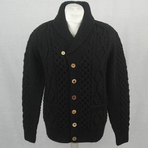 6H Shawl Collar Cardigan 541a Black 44