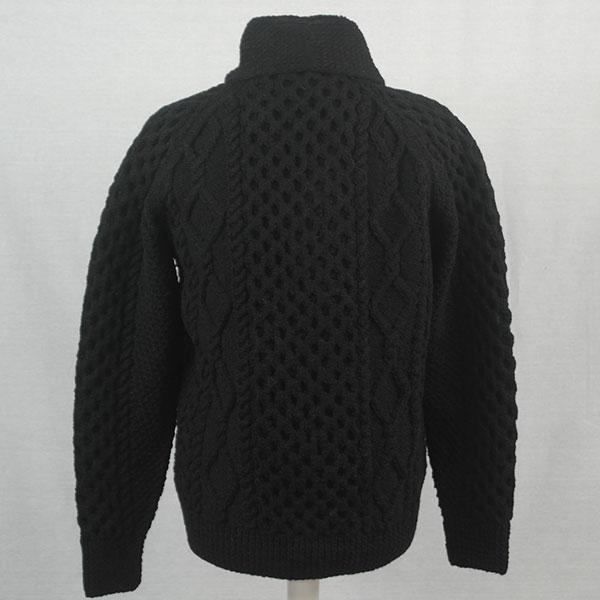 6H Shawl Collar Cardigan 541b Black 44