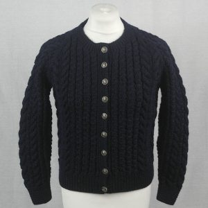 Buttoned Cable Cardigan 493a Navy