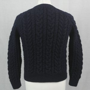 Buttoned Cable Cardigan 493b Navy