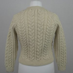 Buttoned Cable Cardigan 556b Natural