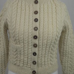 Buttoned Cable Cardigan 556c Natural