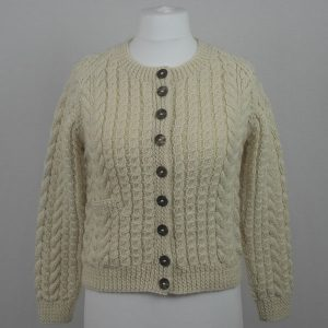 Buttoned Cable Cardigan 557a Natural