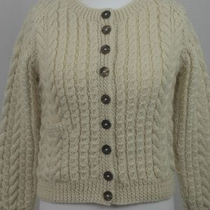 Buttoned Cable Cardigan 557c Natural