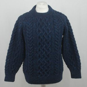 1A Country Meetings Crew Neck Sweater 605a Blueberry Front