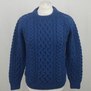 1A Country Meetings Crew Neck Sweater 606a Cobalt Front