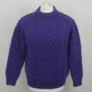 1A Country Meetings Crew Neck Sweater 608a Violet Front