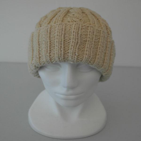 22F Rib & Cable Hat 579a Cream 412