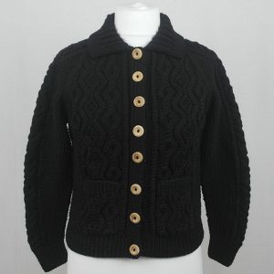 3A Lumber Cardigan 599a Jet Front